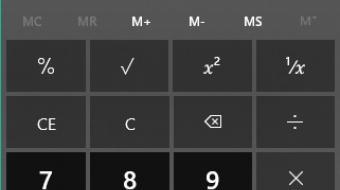 Százalék kivonása számológépen